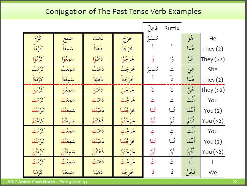 Past Tense Verb – It's Anatomy and Conjugation – Understand