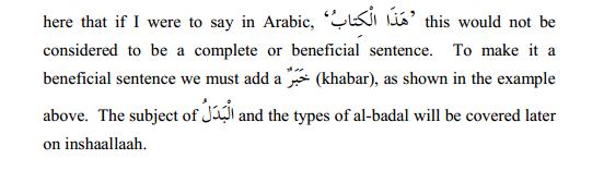 arabic grammar badal