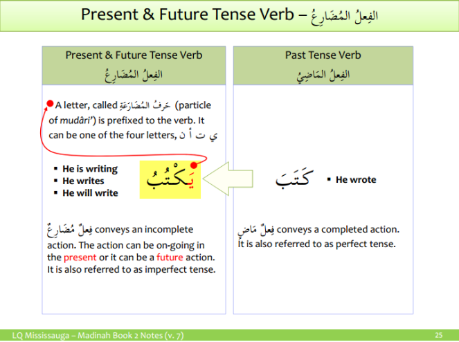 Present and Future Tense Verb (Fial Mudariah)